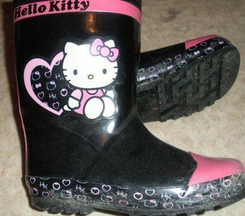 Söta hello kitty katt regn stövlar fodrade gumm.. (408425544
