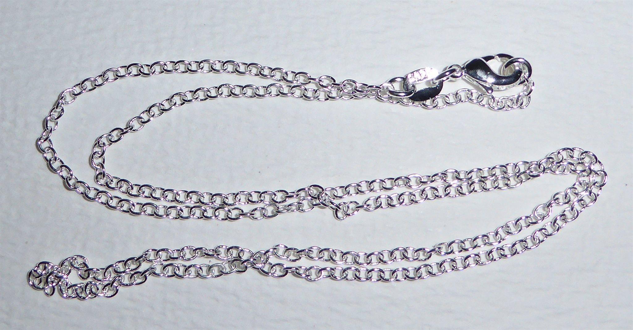 Silver halsband O-länk stämplad 925. 1 2b0e12ba5e2de