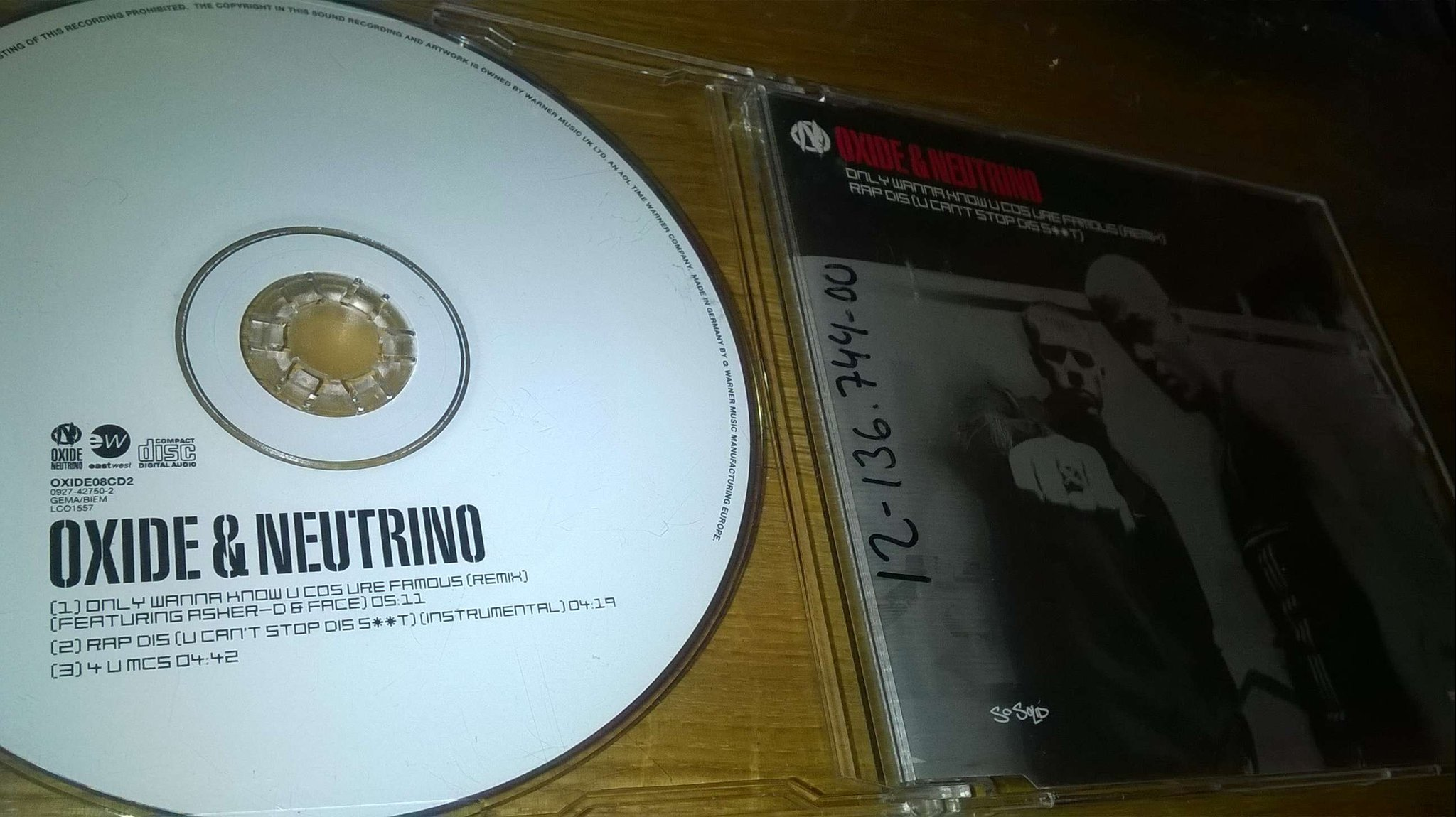 Oxide & Neutrino Only Wanna Know U Cos Ure, CD, single, rare