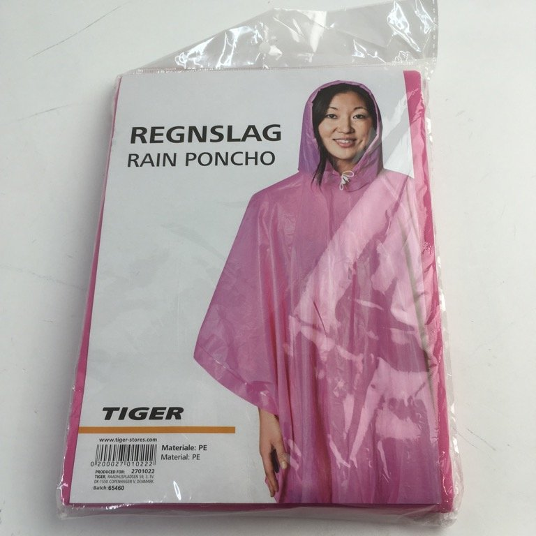 Tiger, Regnponcho, Strl: One Size, Rosa