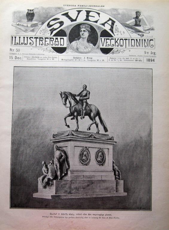 Svea 1894-50 Gustaf II Adolf Stort Bildreportage