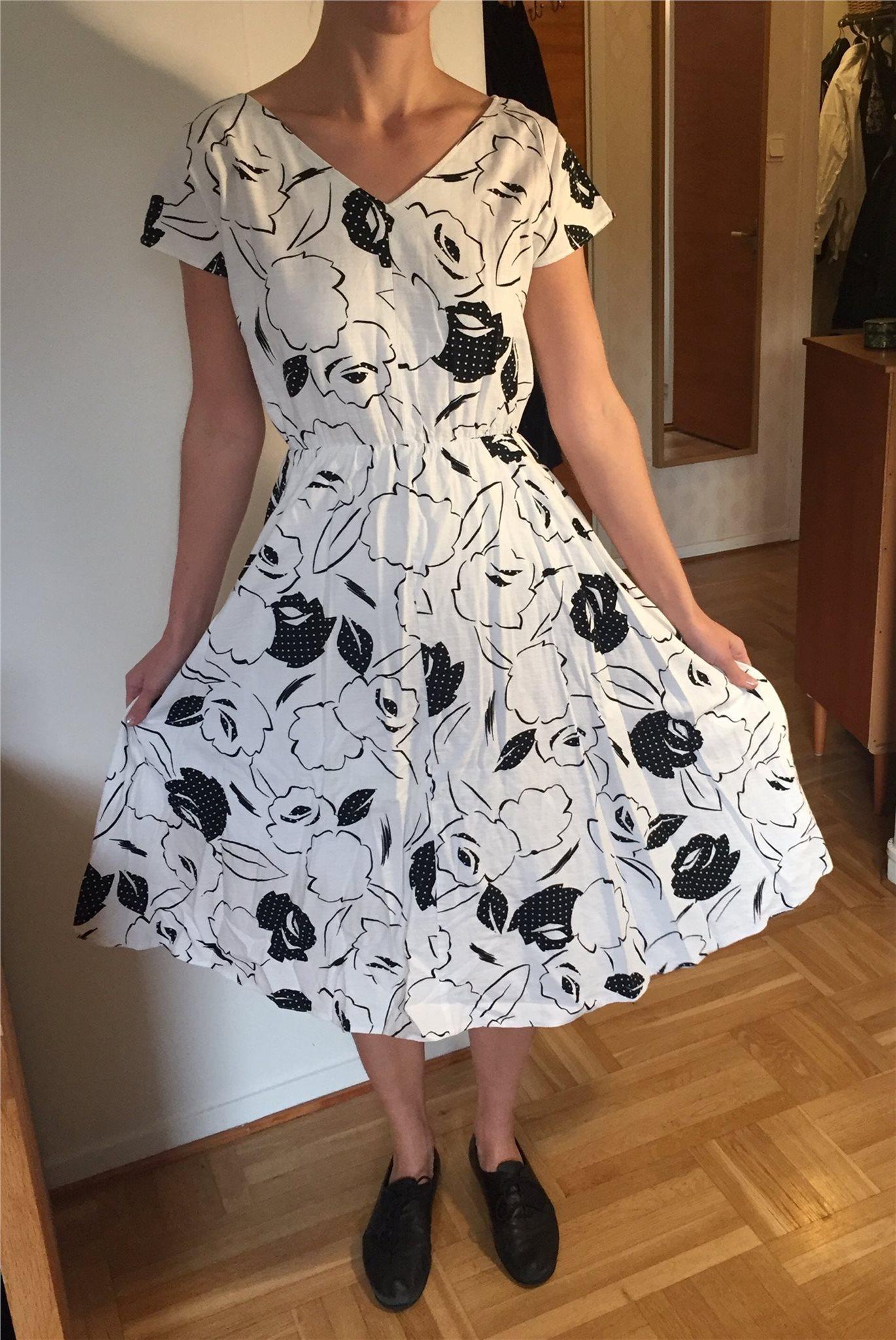 vintage klänning vit