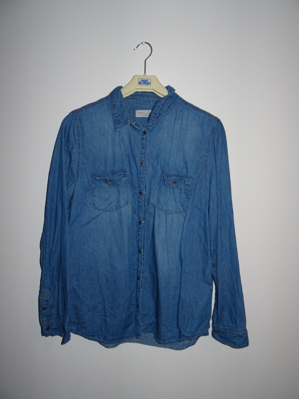 blå jeansskjorta storlek 44 Large (denim 618ea46c2623b