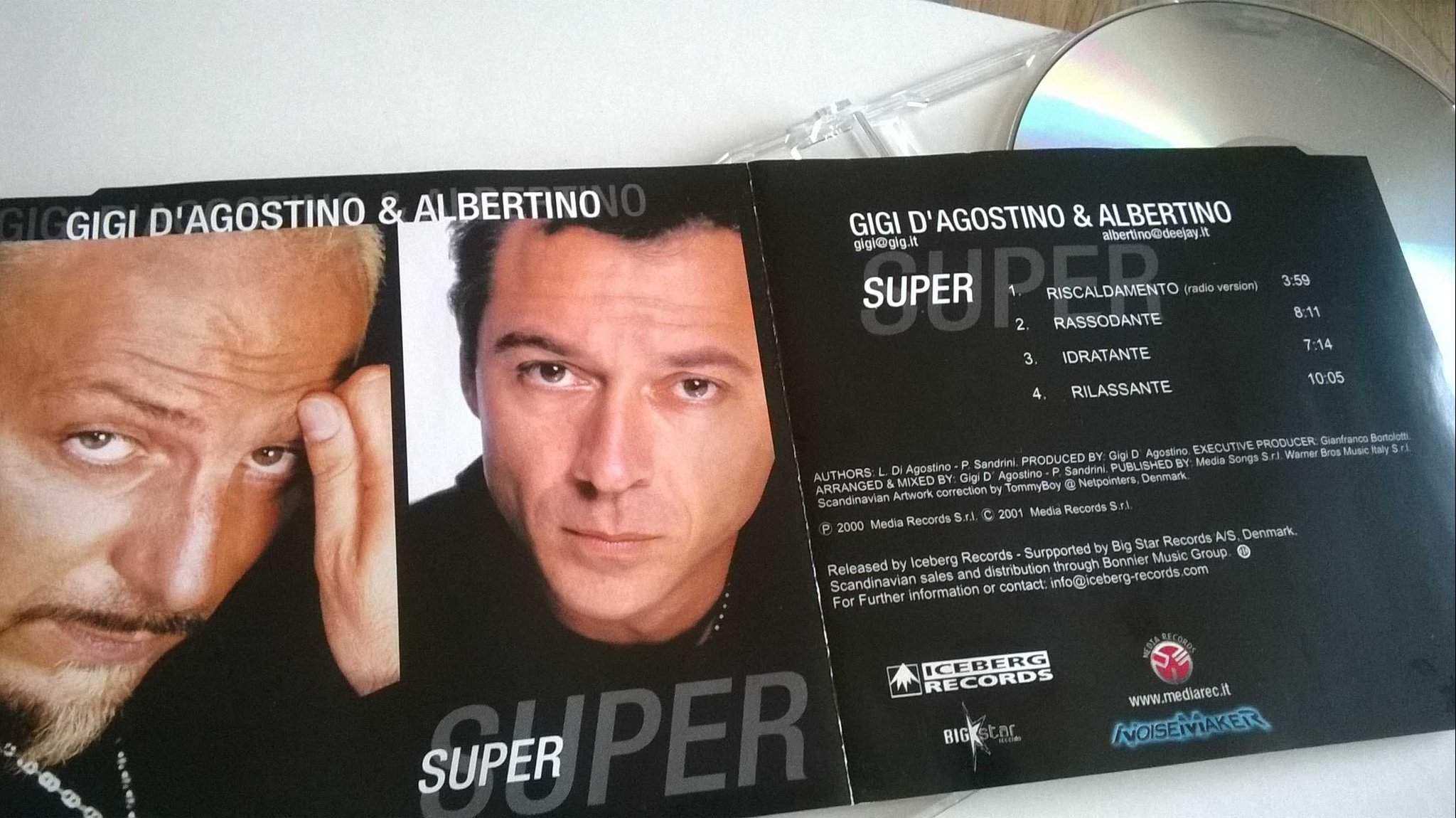 Gigi D'Agostino & Albertino, CD, Maxi-Single