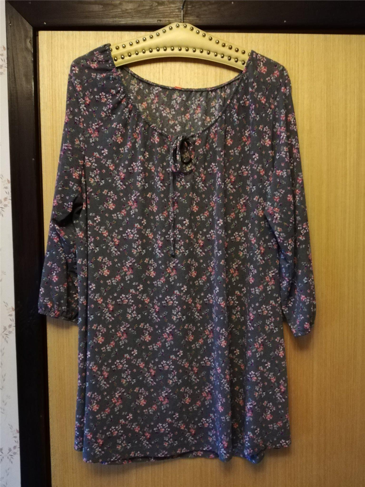 gullig tunika, blus, klänning, extra rymlig, 100% polyester Strl: 54,