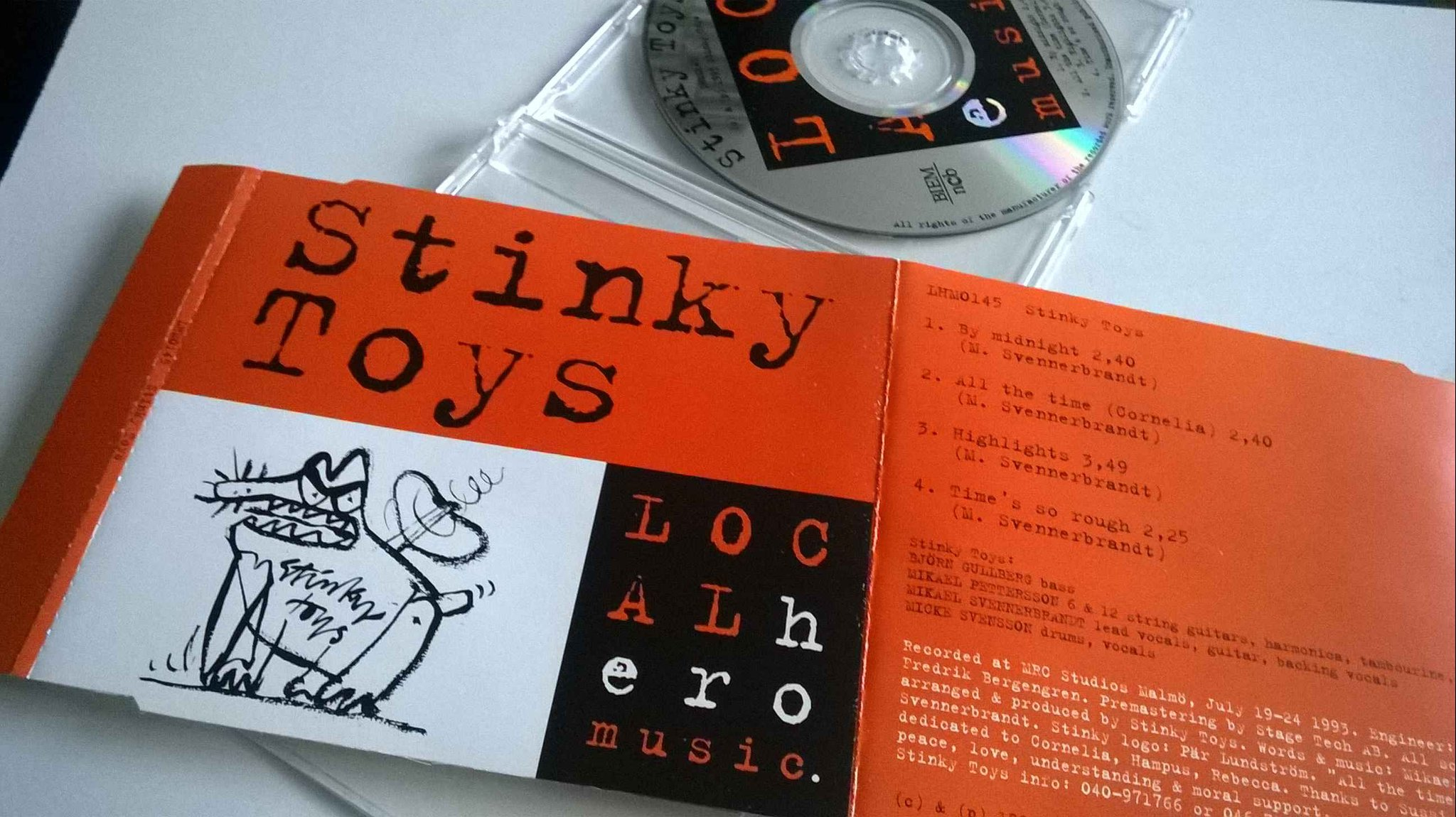 Stinky Toys Björn Gullberg Mikael Pettersson CD, very rare!
