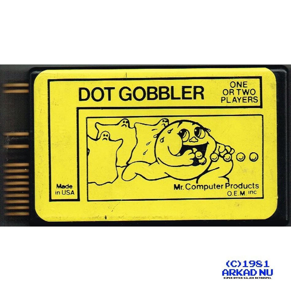 DOT GOBBLER C64 CARTRIDGE COMMODORE 64 SPEL
