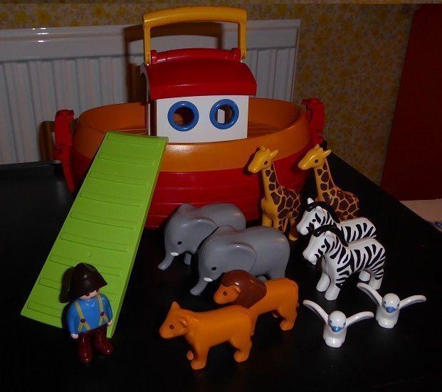 PLAYMOBIL PLAYMOBIL PLAYMOBIL 123  Noaks Ark med djur mm 52aeff