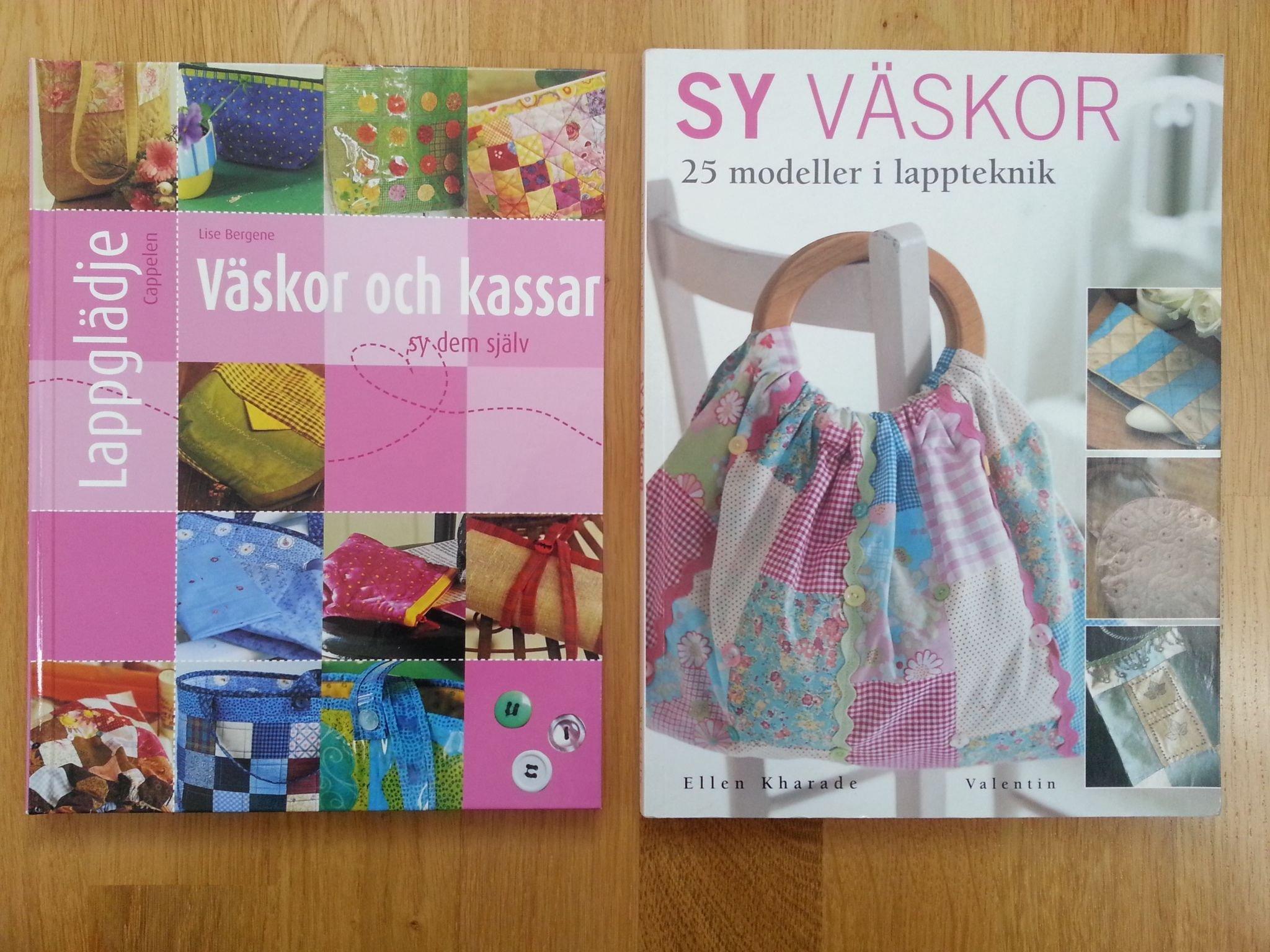 2st böcker Sy väskor och väskor lappteknik och kassar lappglädje