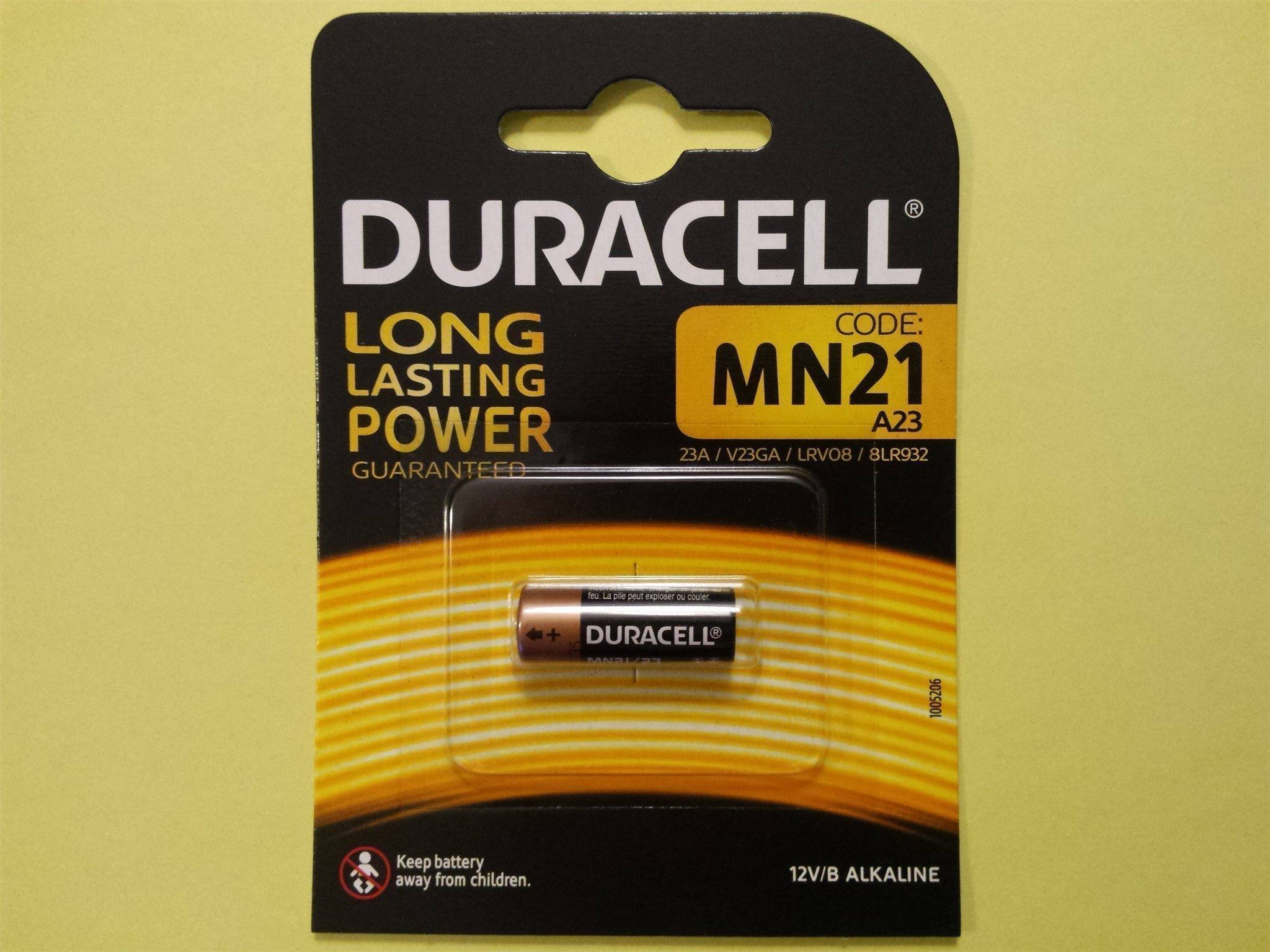 Moderne Batteri DURACELL 12V alkaline - 23A MN21 A23 V2.. (346170993) ᐈ TN57