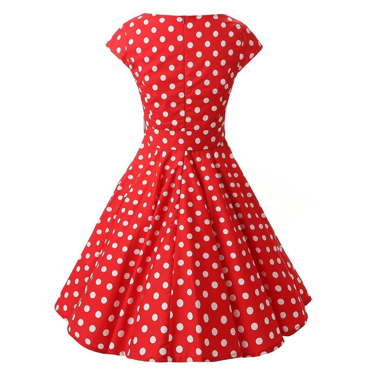 röd rockabilly klänning