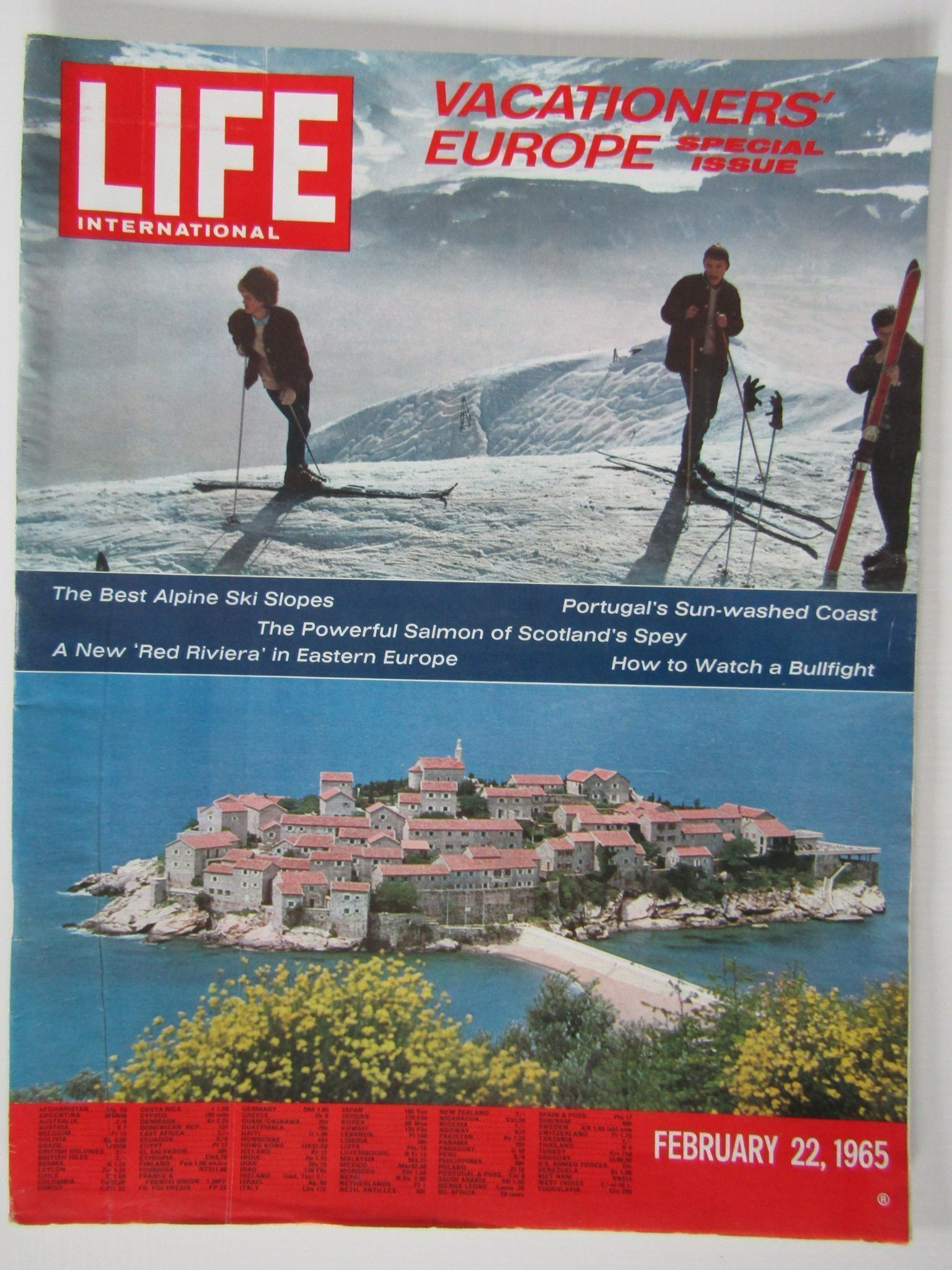 LIFE FEBRUARY 22 1965** VACATIONERS` EUROPE** SEMESTRA I EUROPA