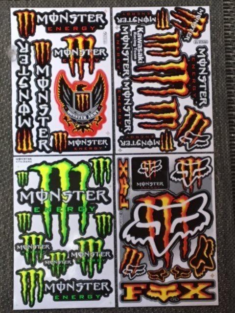 Monster dekaler klistermärken 4 st ark (337465089) ᐈ Köp på Tradera 70a6aa06d8186