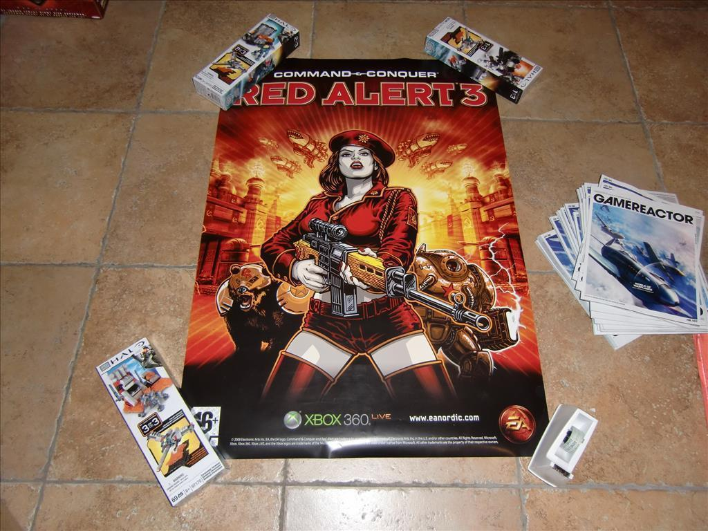 Gammal retro Poster Command & Conquer Red Alert