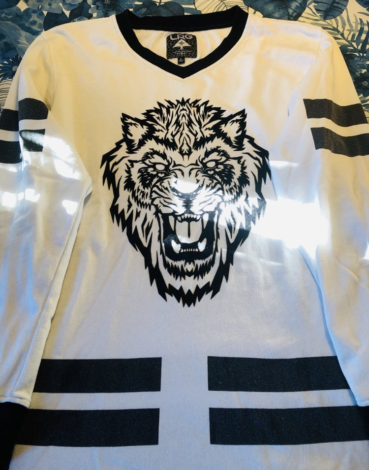 LRG svart-vit tiger Sweater (XL)