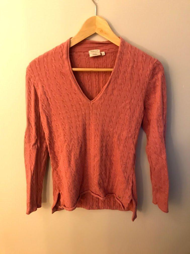 Boomerang stickad tröja, dam, storlek XS, ljusröd, bra skick