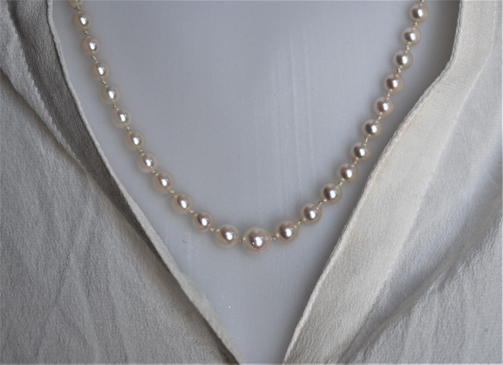Odlade pärlor - 925 silver lås - Fin lyster - P.. (341340426) ᐈ Köp ... 1517bd07293af