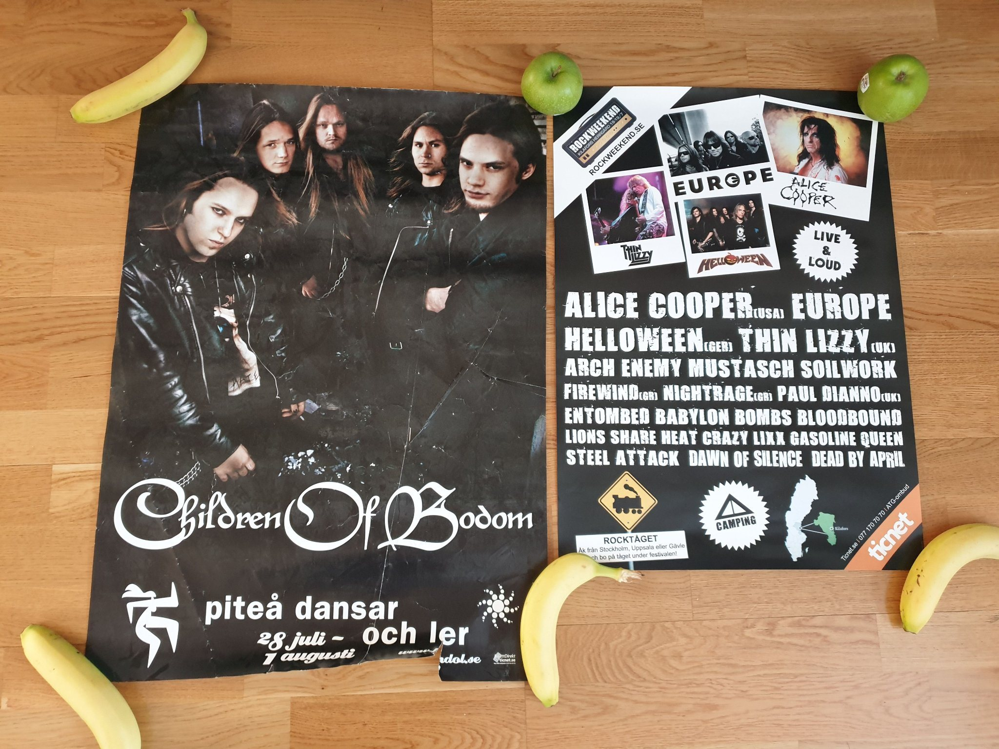Children of bodom 2004 + rockweekend 2008 poster/affisch.Helloween,europe,Metal,