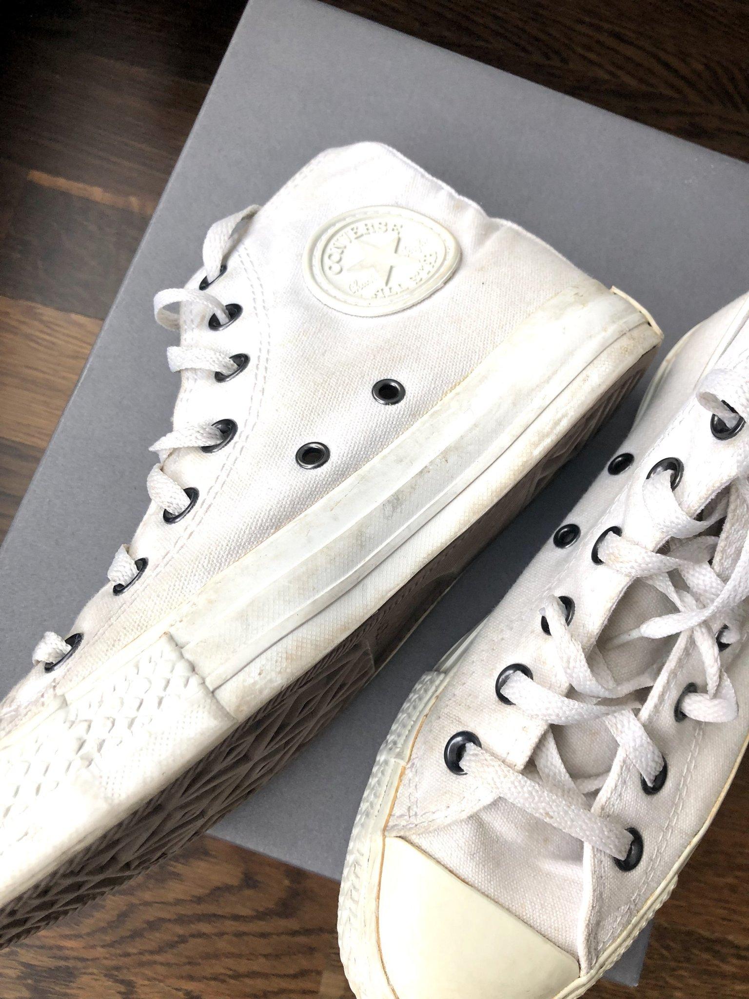timeless design 91590 11a75 Vita helvita Converse stl 37 (4,5) höga klassiska sneakers tygskor ...