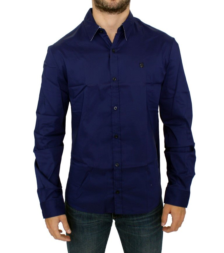 Costume National - Blue cotton slim fit shirt
