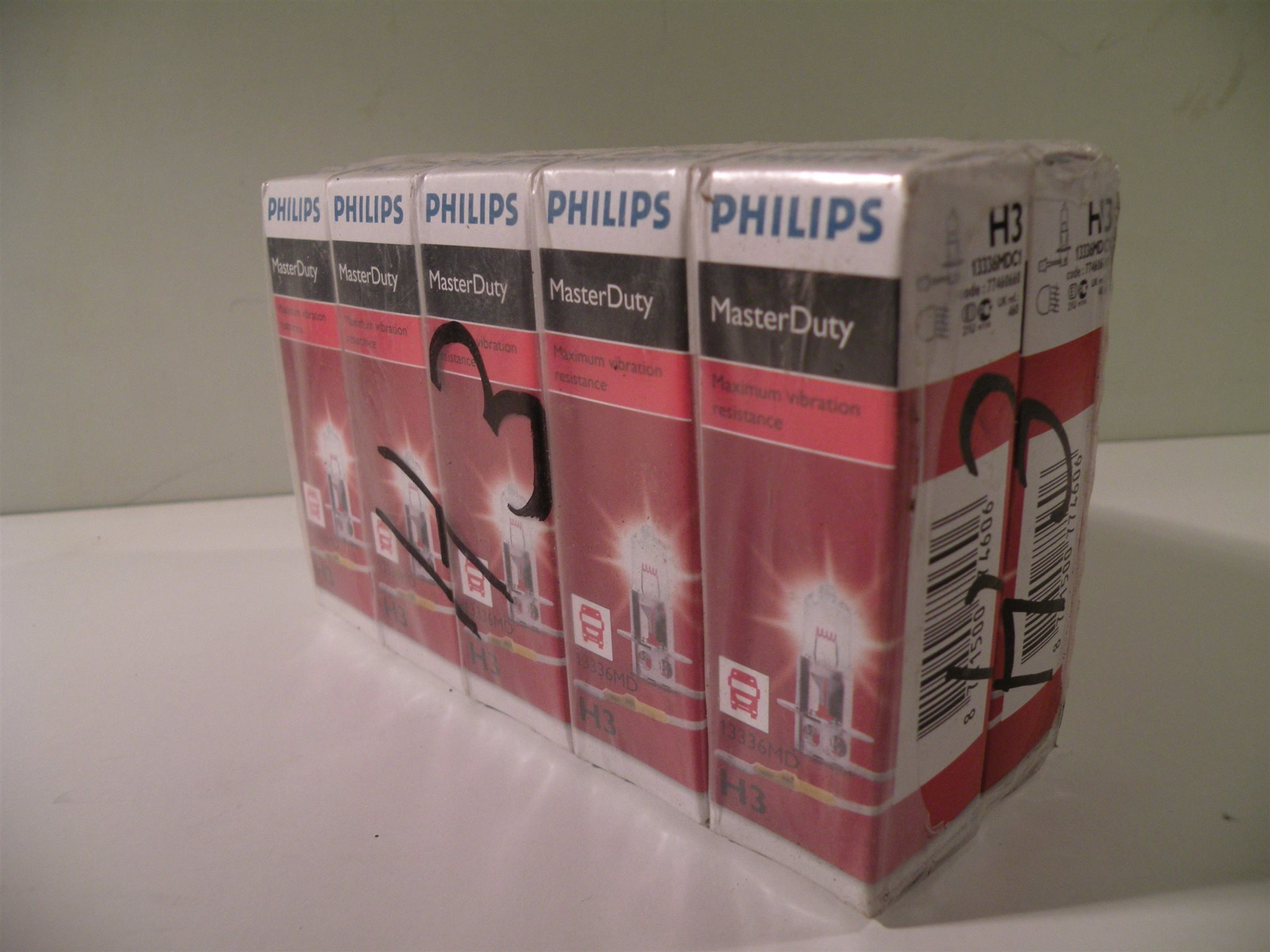 10 pack H3 lampor 24 Volt - Philips Master Duty