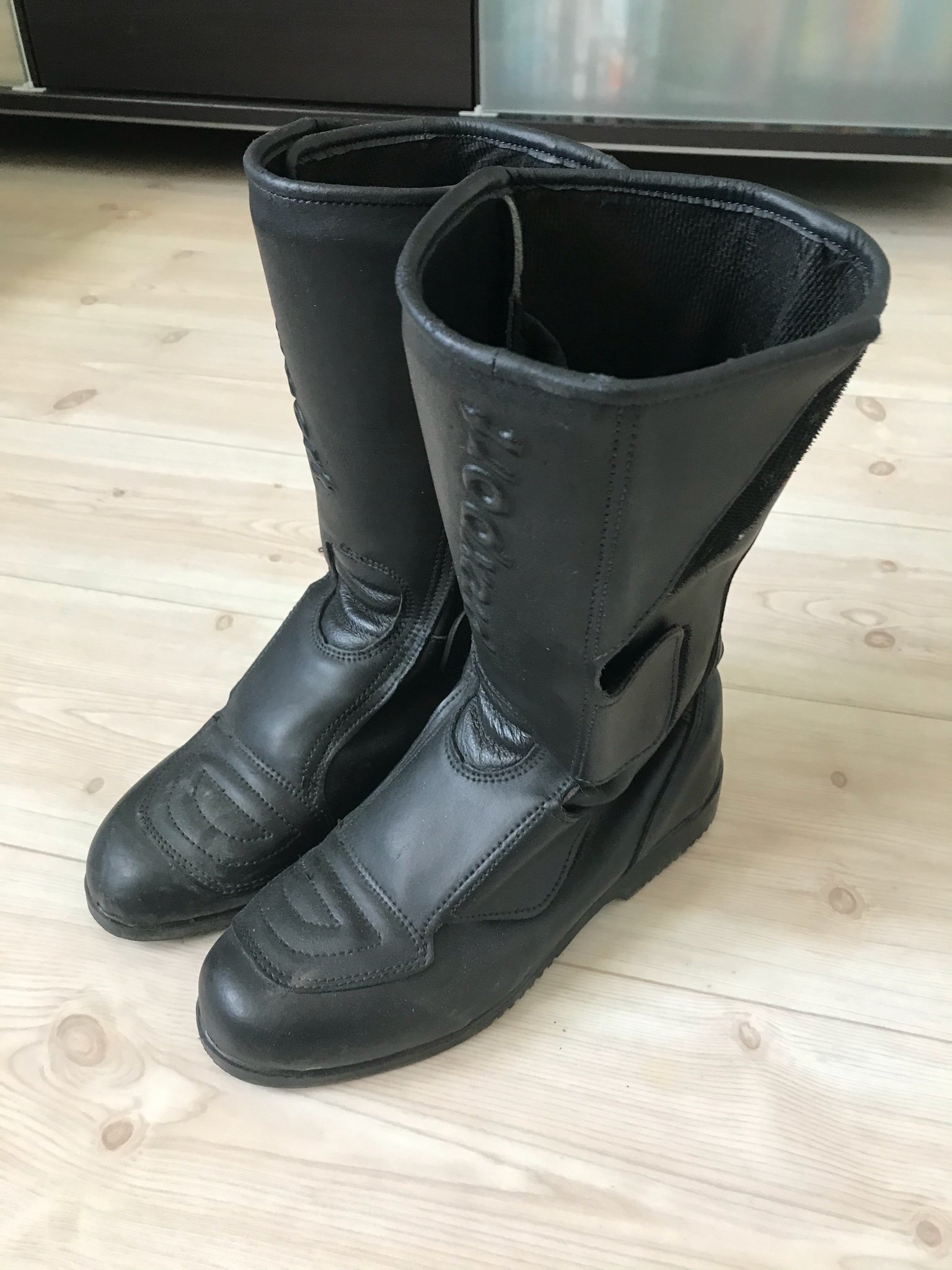 Mc stövlar, svart läder, Prexport