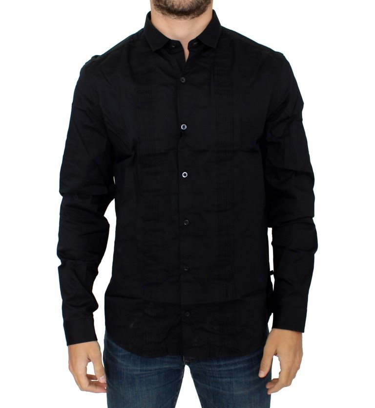 Costume National - Black cotton slim fit shirt