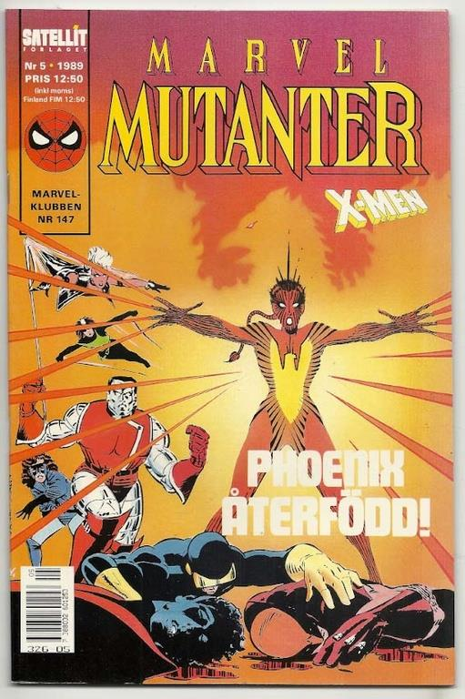 Marvel Mutanter 1989 Nr 5 NM Ny
