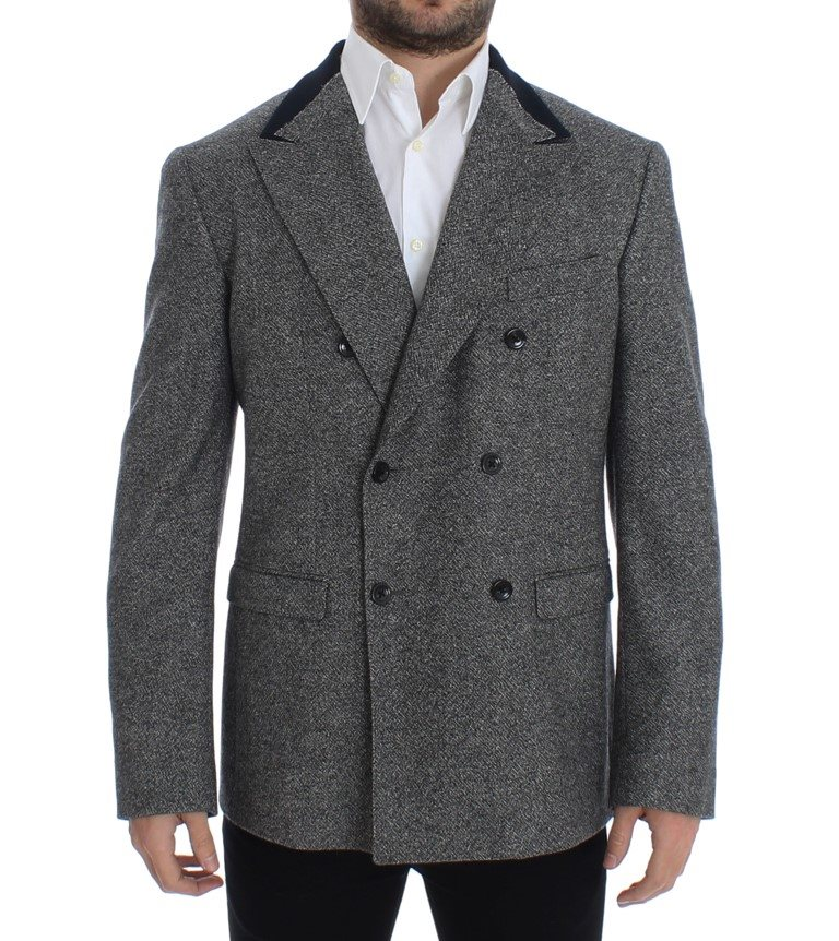 Dolce & Gabbana - Gray wool double breasted blazer