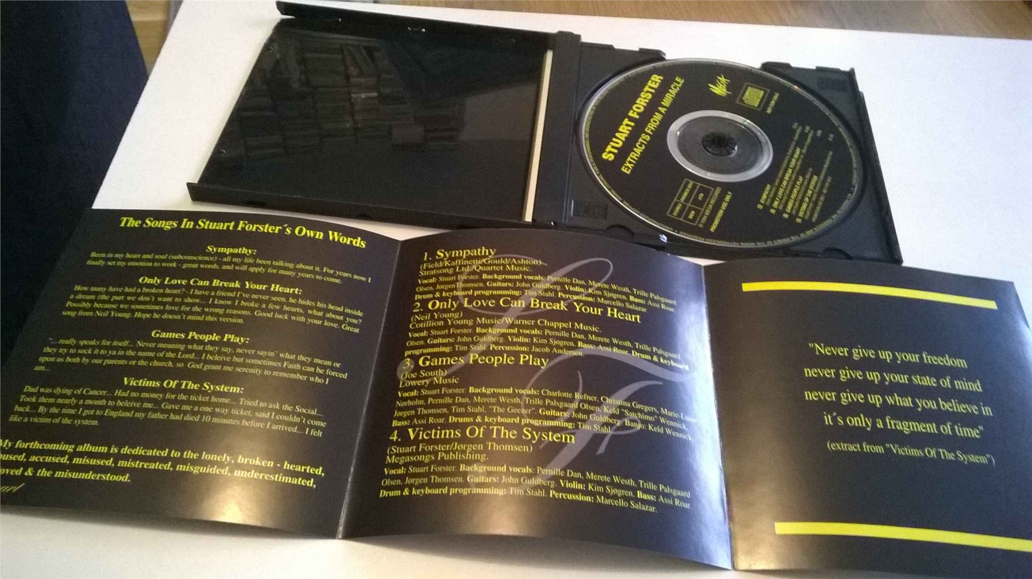 Stuart Forster ?- Extracts From A Miracle, CD, Promo, rare!