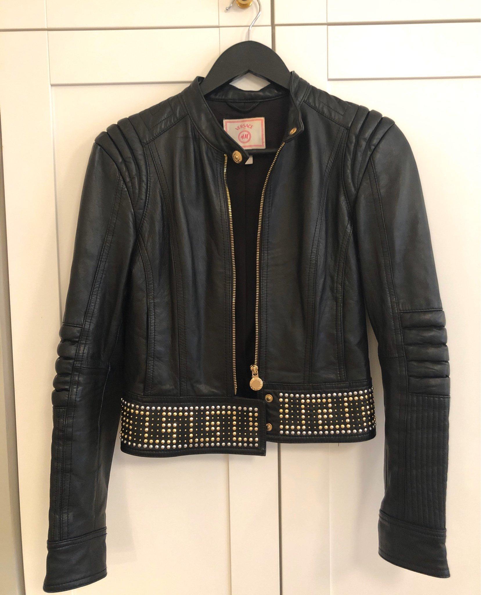 Versace Collection Blousone Skinnjacka Man Svart Kläder