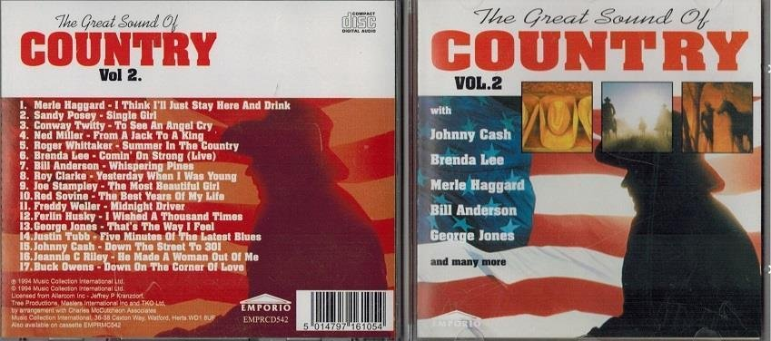 THE GREAT SOUND OF COUNTRY / Volume 2 (CD 1994)