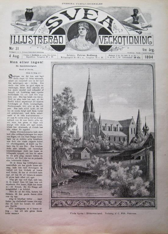 Svea 1894-31 Floda Kyrka I Södermanland..Pfarrer Kneipp