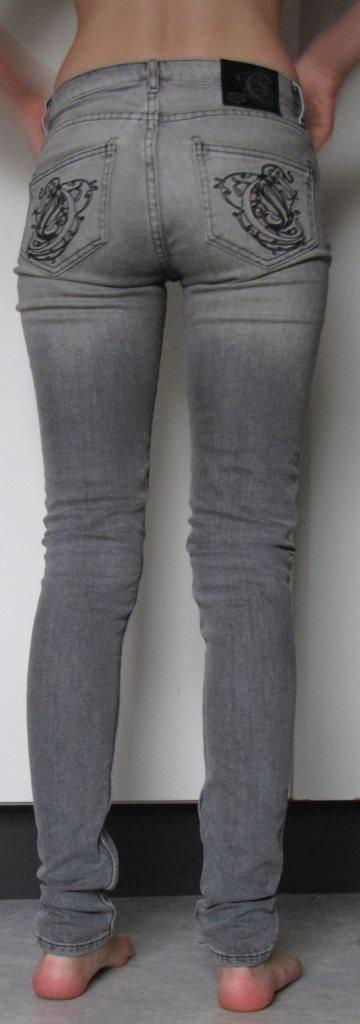 Grå CROCKER jeans byxor W 25 L 32 snygga stuprörsjeans sköna 25 32 mönster  bak c3a0a47732934