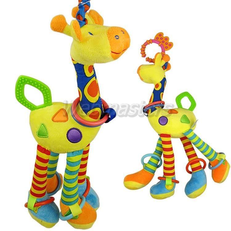 Giraff mjukisdjur gosedjur leksak med ringar ringar ringar 87795a