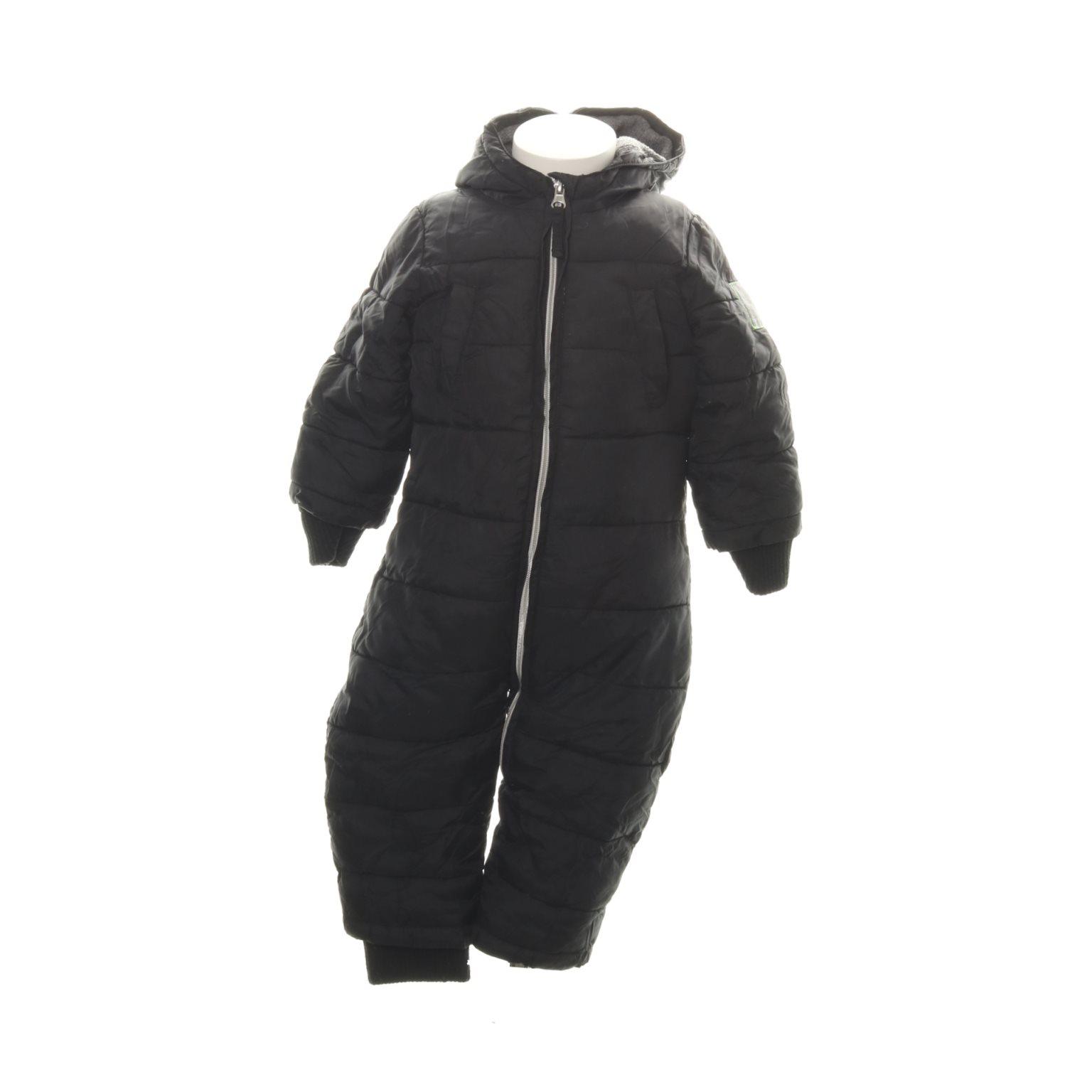 svart overall baby