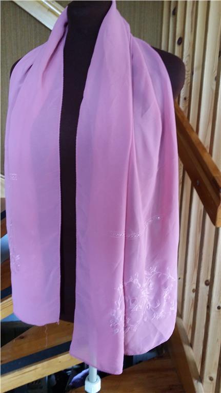 FEST sjal lång broderad chiffon retro (251180031) ᐈ Köp på Tradera cb176dea2e8c7
