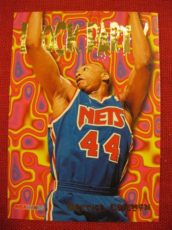 DERRICK COLEMAN - BLOCK PARTY HOOPS 1995-96 - BASKET