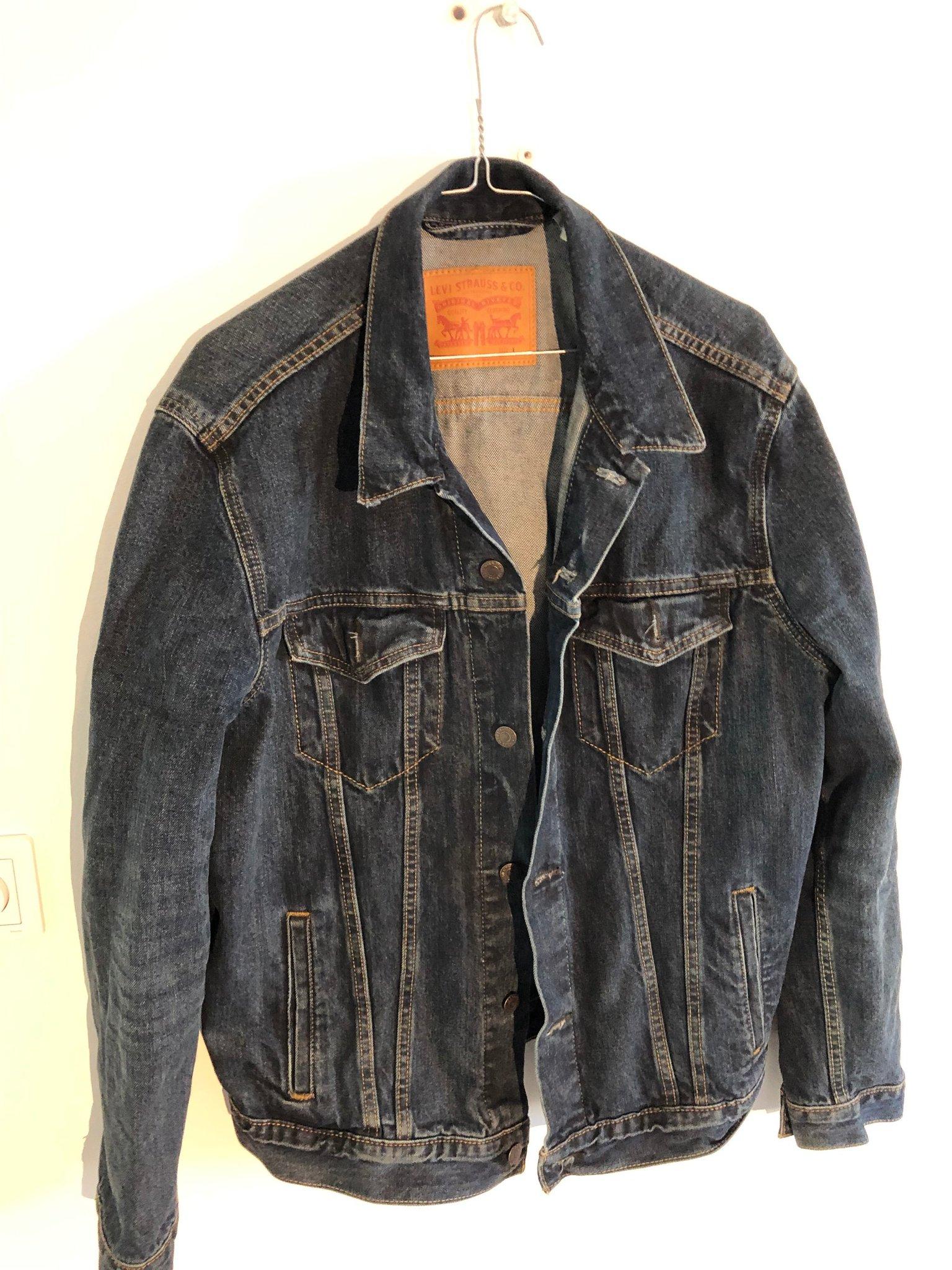 bra erbjudanden 2017 Skodon bästa försäljning Vintage levis jeansjacka mörkblå herr str L (371434299) ᐈ Köp på ...
