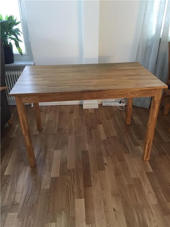 Kök köksbord furu : Köksbord i Ek 117x70x74 cm pÃ¥ Tradera.com - Matsalsmöbler | Möbler ...