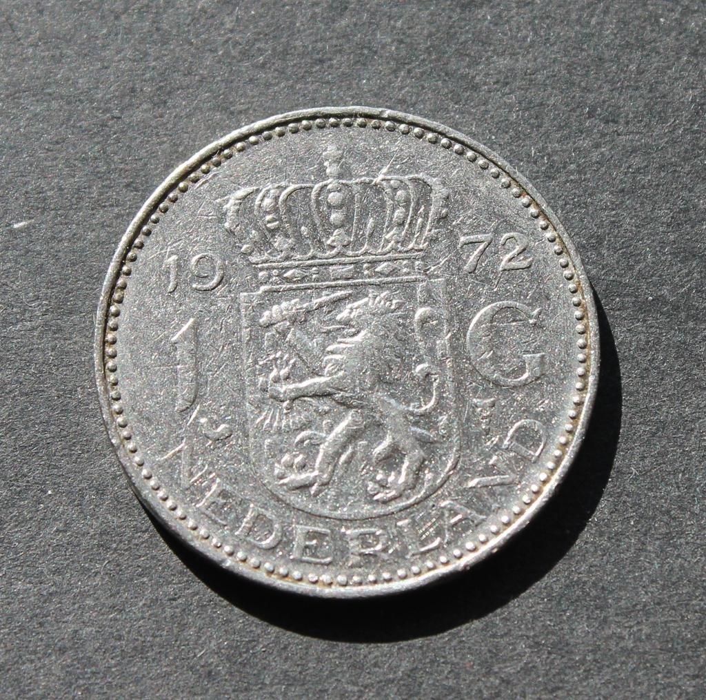 NEDERLÄNDERNA - 1 Gulden 1972 - KM 184a - Nickel - Holland