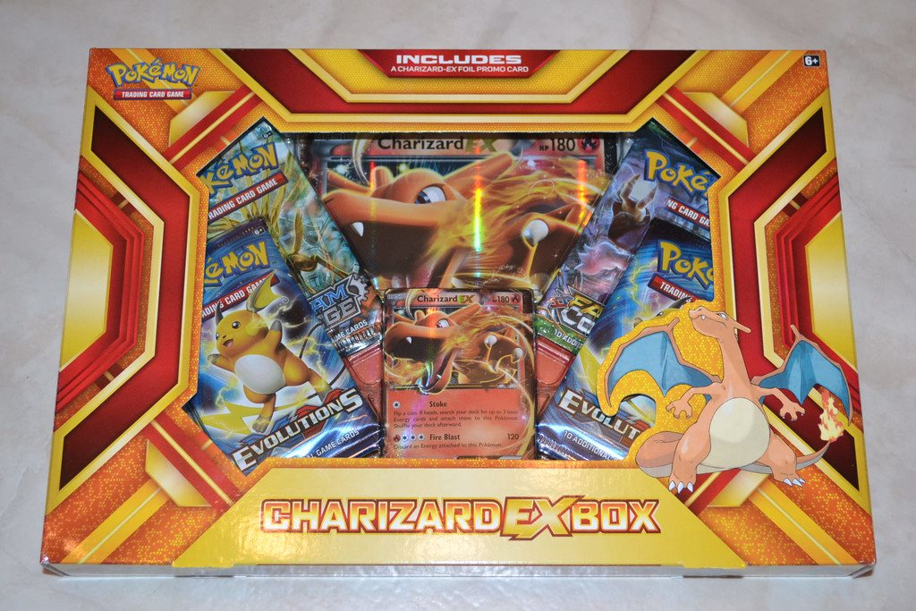 Charizard EX Box Pokémon Trading Card Game Ny