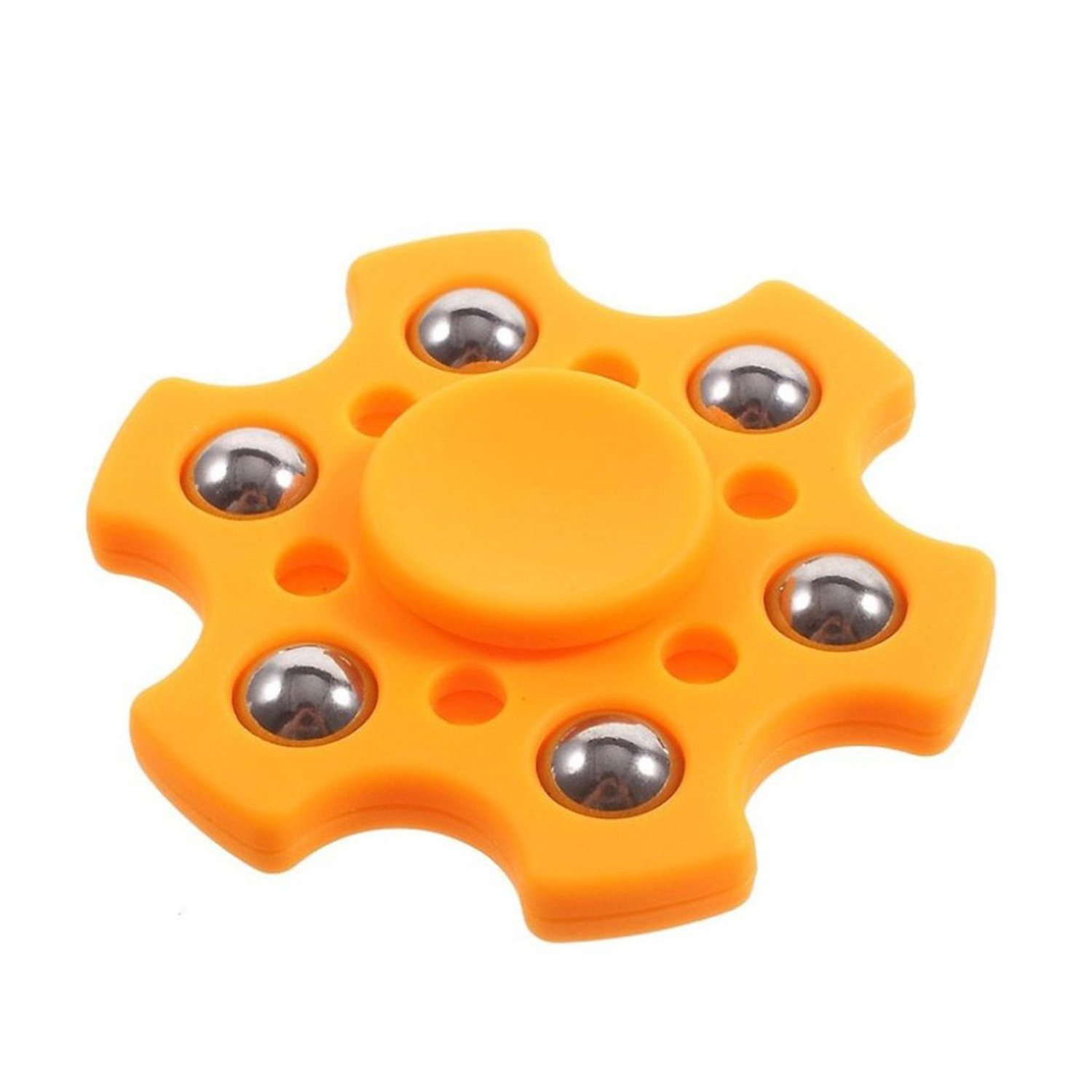 Fidget spinner med metall kulor - Orange