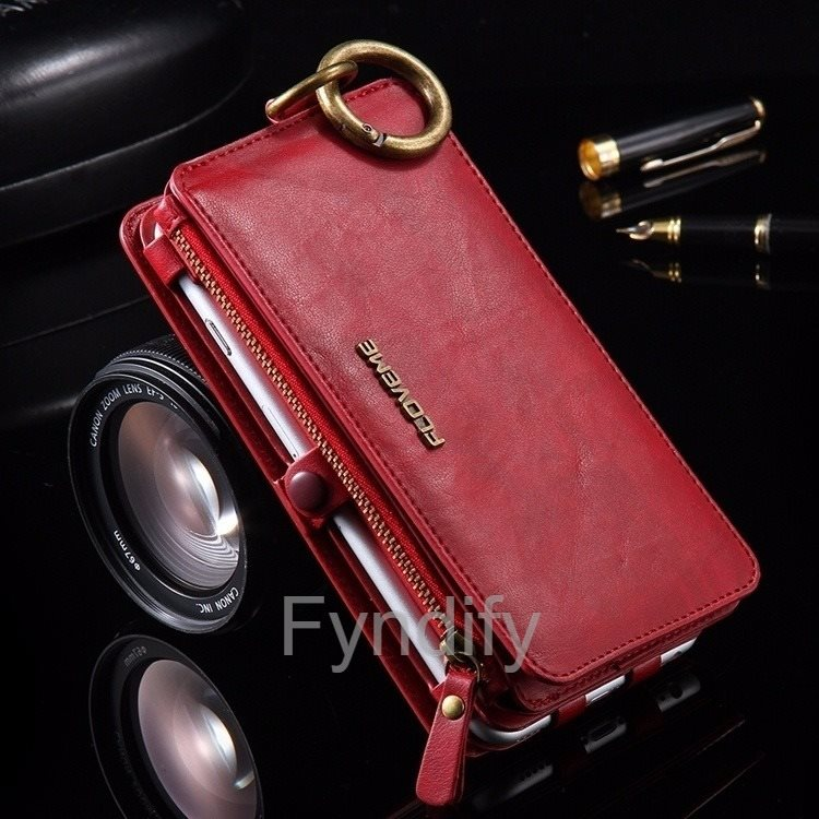 Mobilskal   Plånbok Läder iPhone 7 Plus Röd (278340205) ᐈ Fyndify ... befc8edab6252