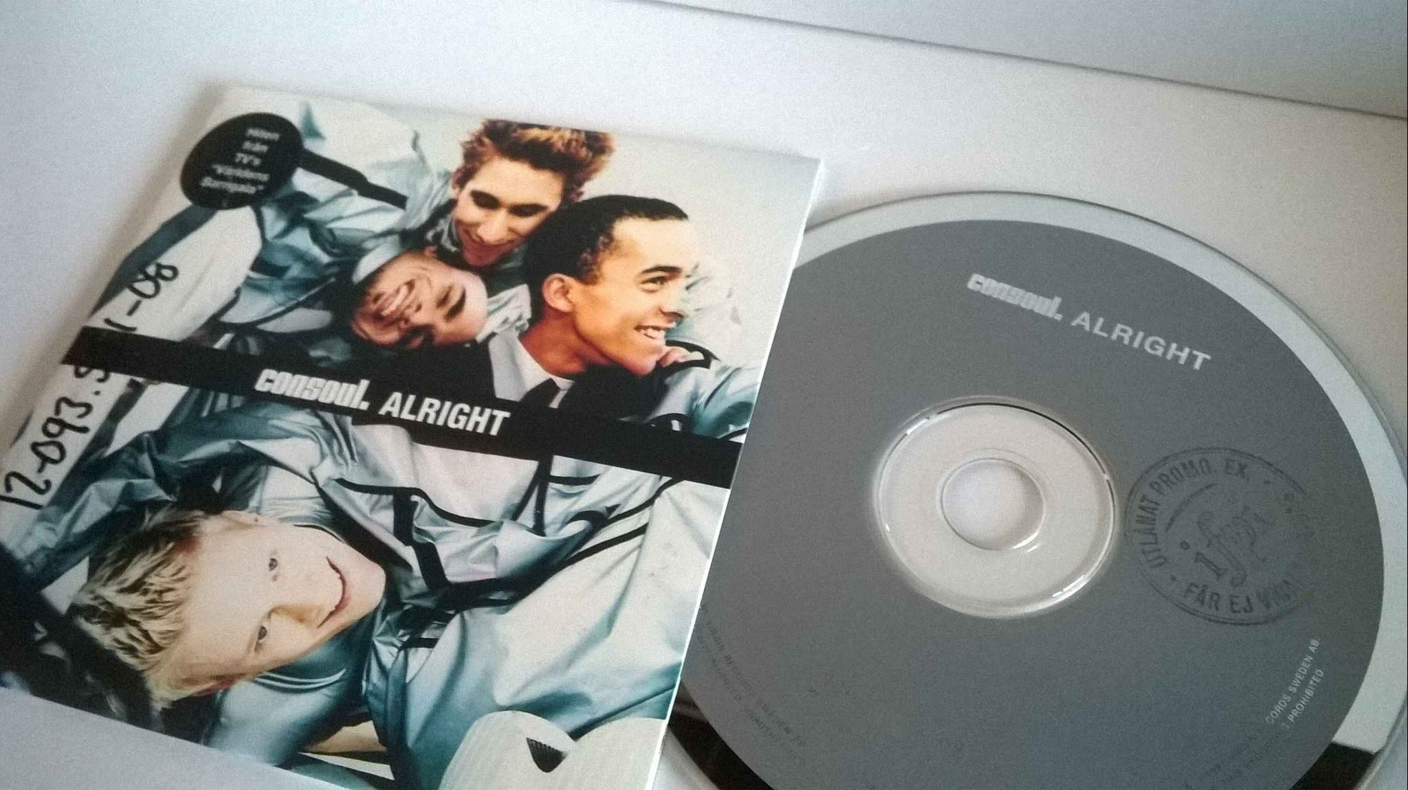 Consoul - Alright, single CD, promo stämplad, rare!