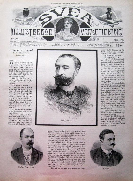 Svea 1894-27 Sadi Carnot Stefan Stambuloft Stoiloff