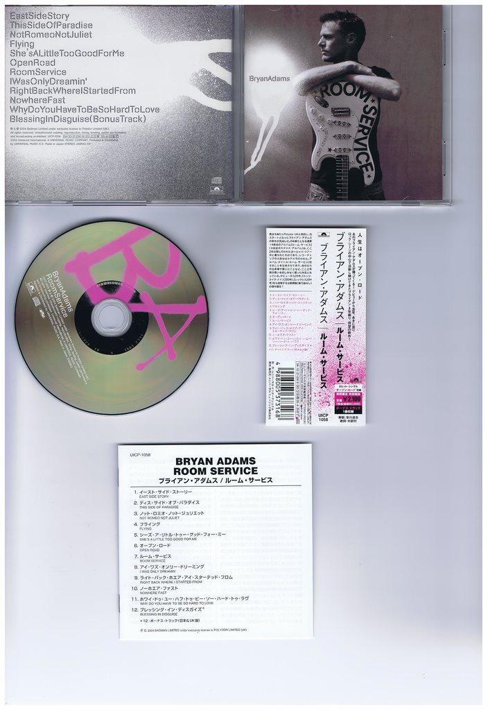 BRYAN ADAMS-Room service+1BT(Canada hardrock!)JAP CD på Tradera.com -