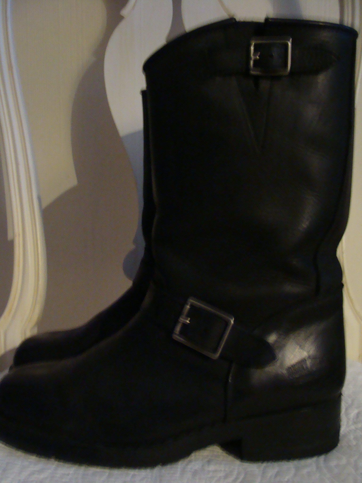 KÄNGOR JOHNNY BULLS 38 svarta skinn boots Mc . (335449299) ᐈ Köp på ... 93914cec5d4fd
