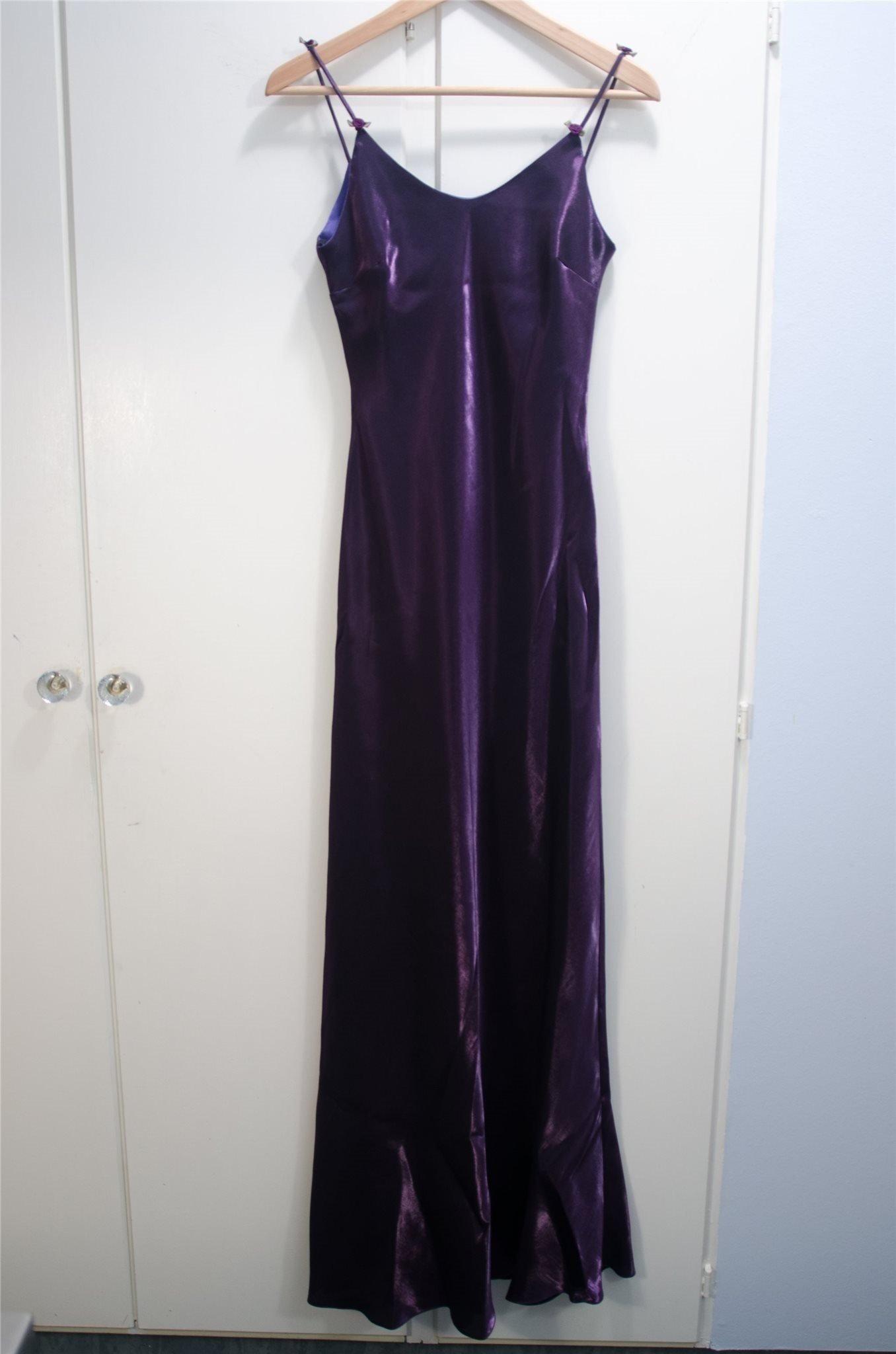21244fb6bbf8 Lila klänning för bal fest brud tärna S/XS (347164391) ᐈ Köp på Tradera