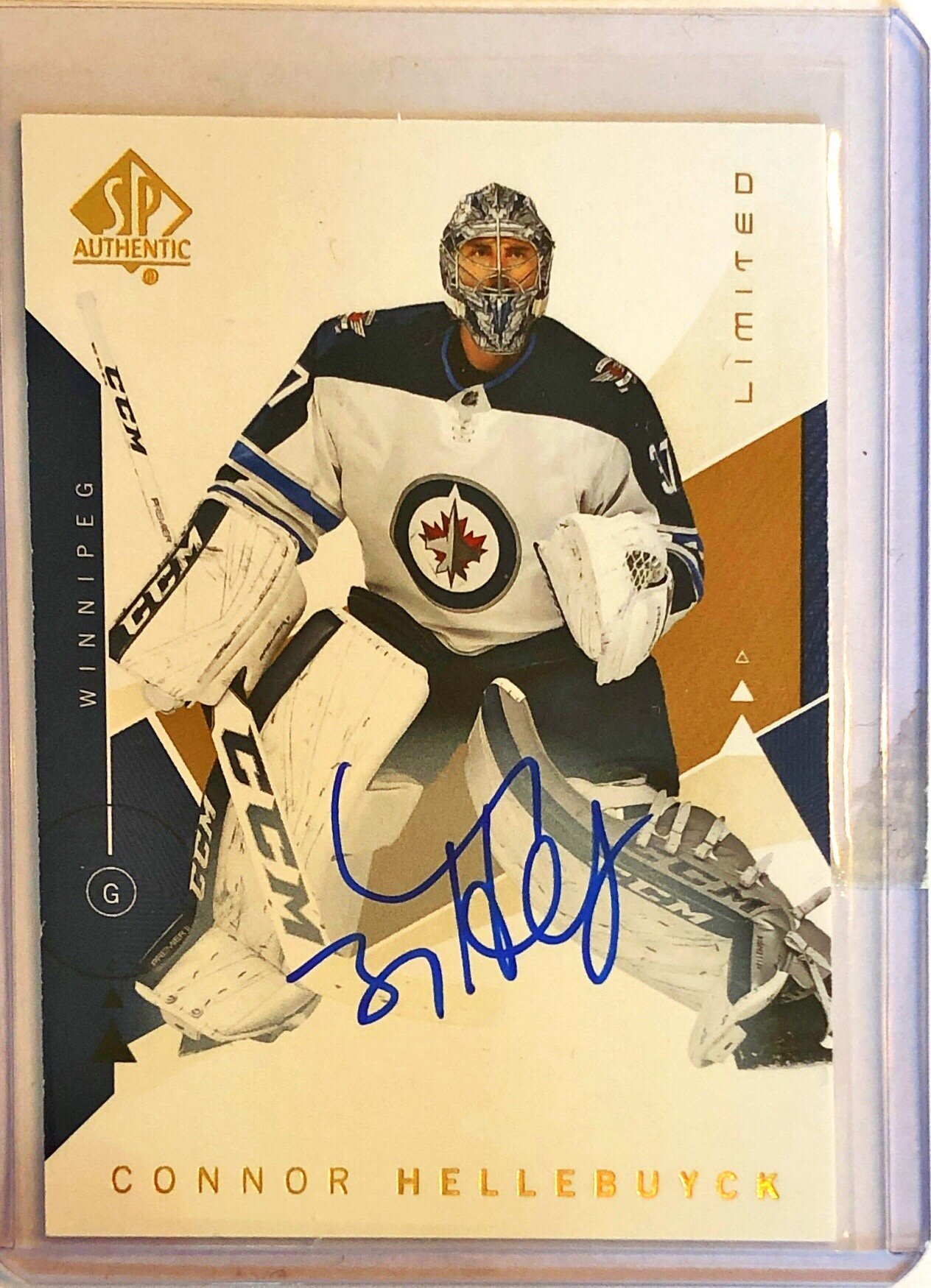 2018-19 SP Authentic Limited Autograph #28 Connor Hellebuyck